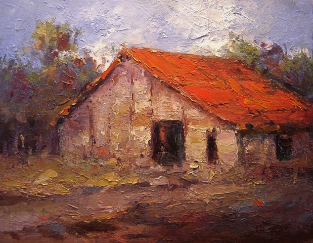 Barn, Barns, paintings of Barns, oil paintings of barns, textured paintings, rustic, rustic barn, oil paintings of old barns