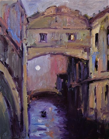gondola, Italy, Venice, Venetian, R W Bob Goetting, Bridge of Sighs, Paintings of Venice, Original artwork of Venice, Artwork of Venice, Venice paintings