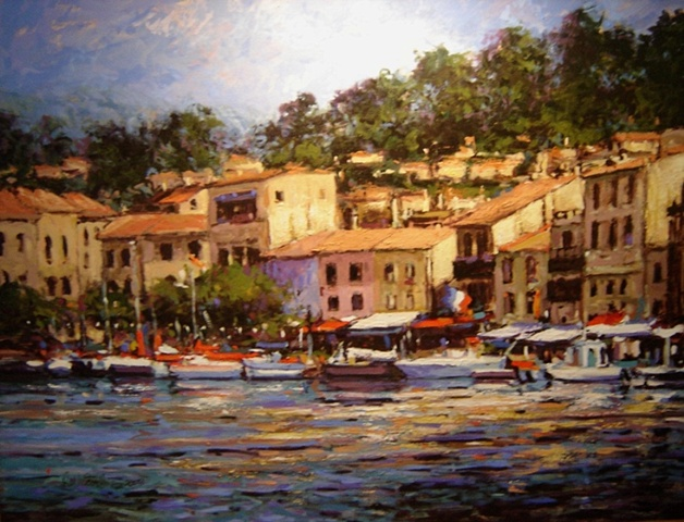 Harbor at Cassis France  SOLD