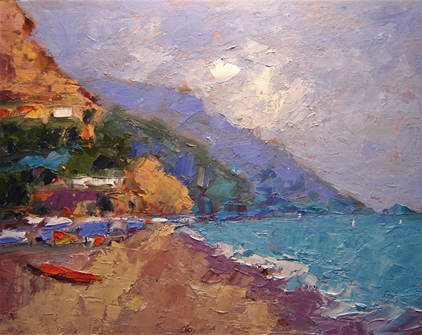 Italy, Procida, Italian islands, Mediterranean, Mediterranean art, original oil paintings of Italy