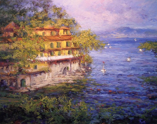 Portofino, villa near Portofino, Hotel Spendido, paintings of Portofino