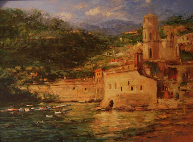 Vernazza Italy at sundown. R W Bob Goetting, french and italian riviera