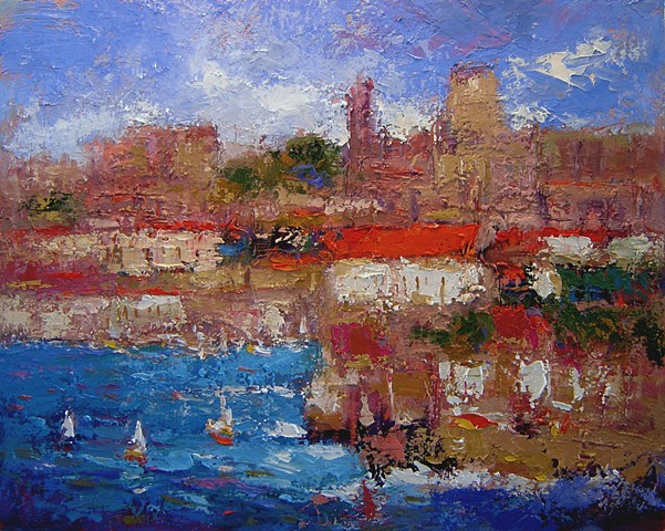 Dubrovnik, Dubrovnik Croatia, paintings of Croatia, paintings of Dubrovnik, R. W. Bob Goetting