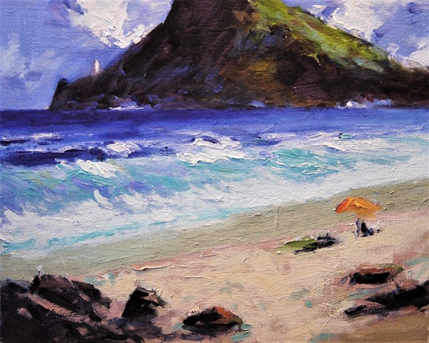 Hawaii, paintings of Hawaii, Oahu, Makepu'u, Makepu'u beach