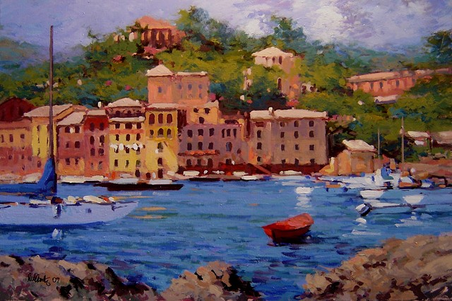 July in Portofino, Portofino Italy, paintings of Portofino