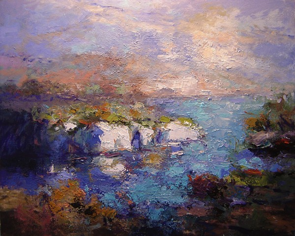 Les Calanques Provence France, French Rivera paintings, R W Bob Goetting,french and italian riviera
