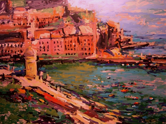 Vernazza, Paintings of Vernazza, Italy, Italian, R. W. Bob Goetting,