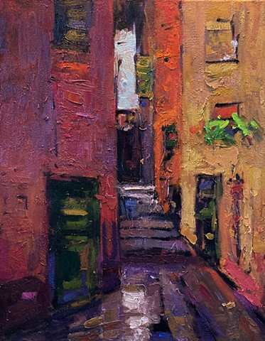 Vernazza, carrugi, paintings of the Cinque Terre, paintings of Italy
