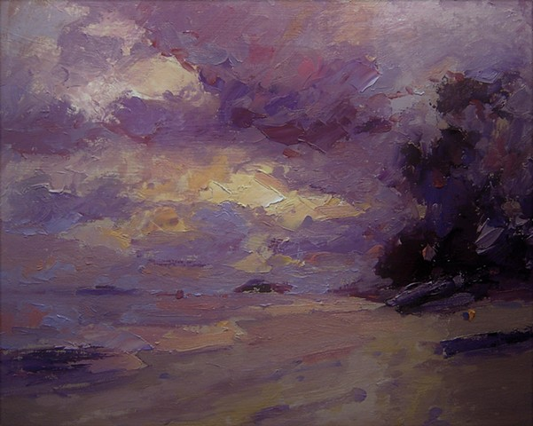 Kailua Beach, Hawaii, beach scenes, original oil paintings, R W Bob Goetting