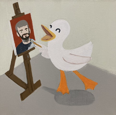 Self Portrait As A Jumping Duck