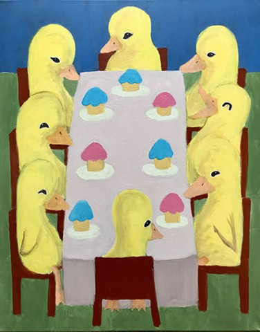 Ducklings at a Cupcake Banquet
