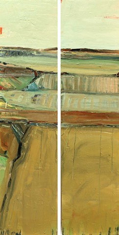 Central Valley #11 & 12, diptych
