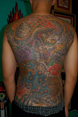 dragon shishi back