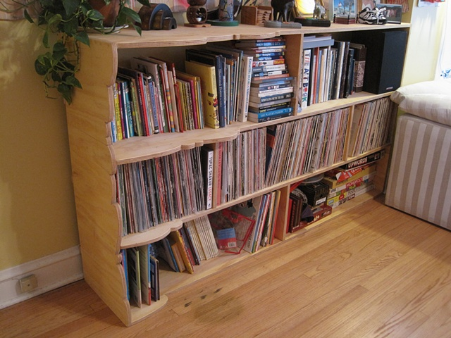 Record / Book shelf - stained