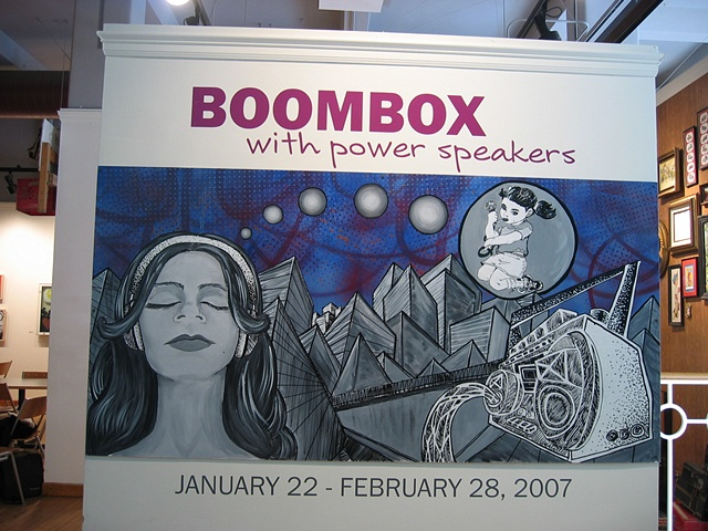Boom Box with Power Speakers show sign