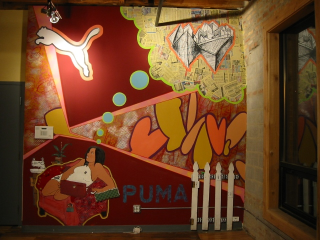 Puma showroom-small wall