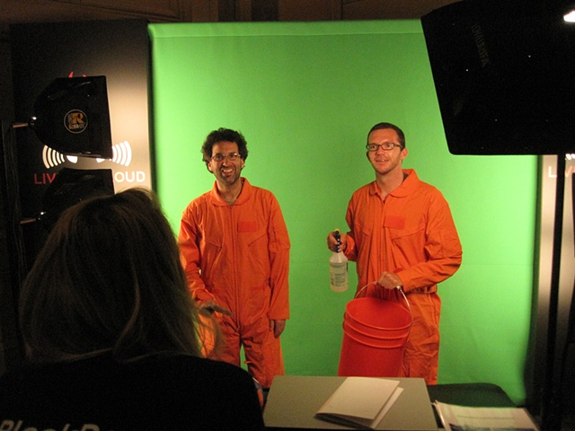 orange jump suit green screen hi-jinx!