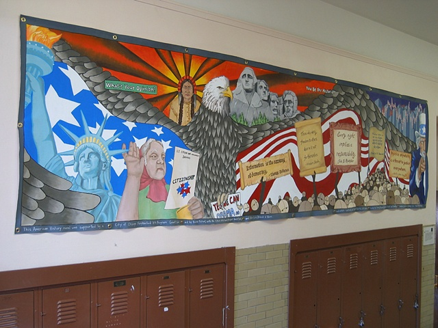 Boone Elementary School history mural, Chicago, Ill.