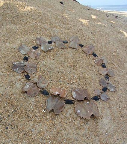Temporary Necklace: Horseshoe Crab Shells