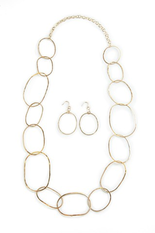 Hoop Necklace and Earrings