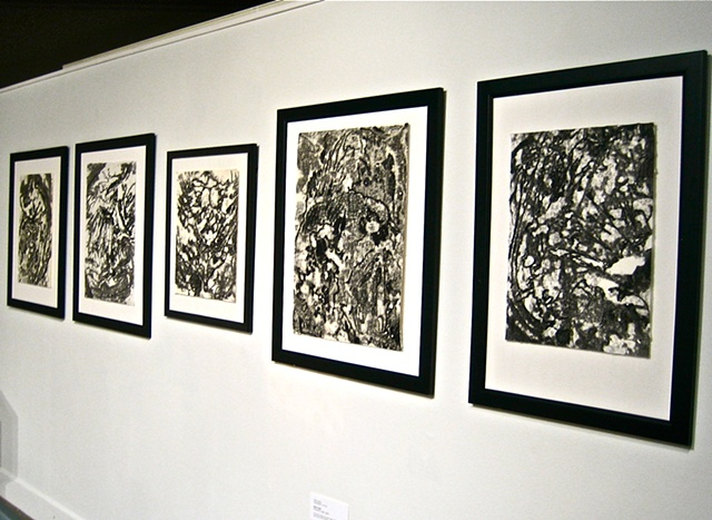 "The ""using oxygen"" series displayed at Robbins Gallery"