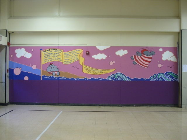 Pulaski Lunchroom Mural- panel 4