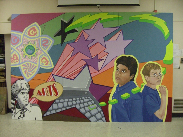 BOONE MURAL- right side (before installation)