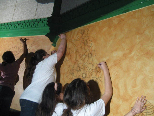 Projecting the Mural Design