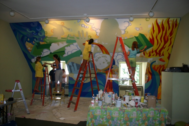 Fourth Pres Mural- process