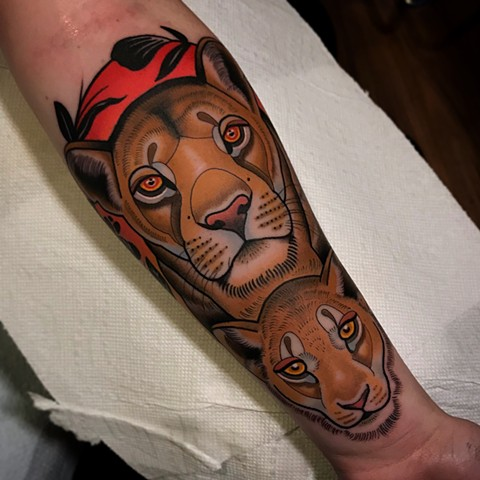 lioness tattoo by dave wah at stay humble tattoo company in baltimore maryland the best tattoo shop and artist in baltimore maryland