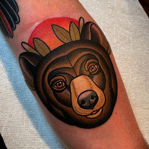 Jay's bear tattoo