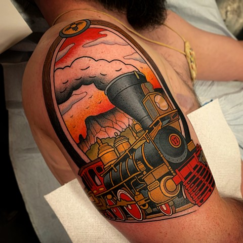 afad4200f Matt's train tattoo. 2019. coleman lantern tattoo by dave wah at stay  humble tattoo company in baltimore maryland the best