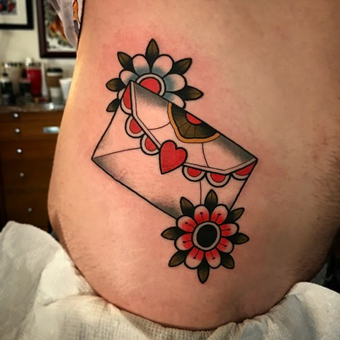 love letter tattoo by dave wah at stay humble tattoo company in baltimore maryland the best tattoo shop and artist in baltimore maryland
