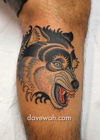 wolf tattoo by dave wah at stay humble tattoo company in baltimore maryland the best tattoo shop in baltimore maryland