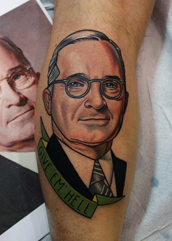 harry s truman tattoo by dave wah at stay humble tattoo company in baltimore maryland the best tattoo shop in baltimore maryland