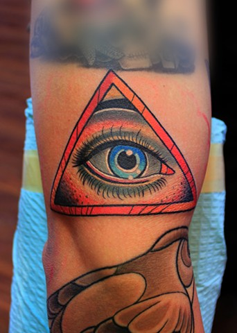 eye of providence tattoo by dave wah at stay humble tattoo company in baltimore maryland
