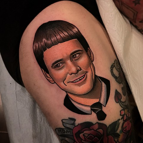 lloyd christmas tattoo portrait dumb and dumber tattoo by dave wah at stay humble tattoo company in baltimore maryland the best tattoo shop and artist in baltimore maryland