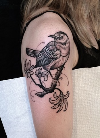 bird tattoo by dave wah at stay humble tattoo company in baltimore maryland the best tattoo shop in baltimore maryland