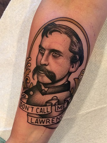 Alyssa's portrait tattoo of Joshua Lawrence Chamberlain