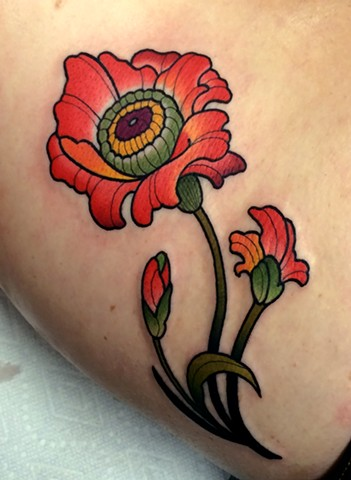 flower tattoo by dave wah at stay humble tattoo company in baltimore maryland the best tattoo shop in baltimore maryland
