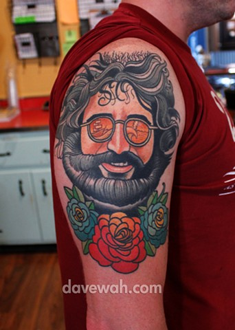 jerry garcia grateful dead tattoo by dave wah at stay humble tattoo company in baltimore maryland the best tattoo shop in baltimore maryland