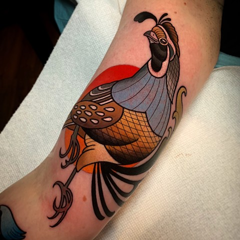 california quail tattoo by dave wah at stay humble tattoo company in baltimore maryland the best tattoo shop and artist in baltimore maryland