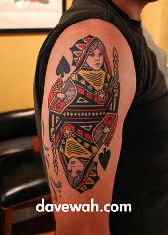 playing card tattoo by dave wah at stay humble tattoo company in baltimore maryland the best tattoo shop in baltimore maryland