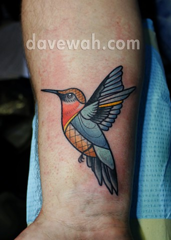 hummingbird tattoo by dave wah at stay humble tattoo company in baltimore maryland the best tattoo shop in baltimore maryland