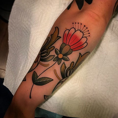 flower tattoo by dave wah at stay humble tattoo company in baltimore maryland the best tattoo shop and artist in baltimore maryland