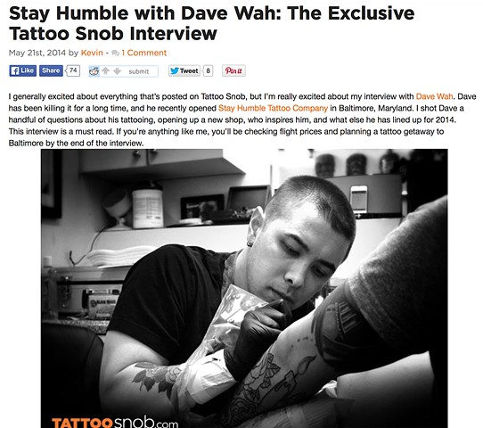 Tattoosnob.com interview