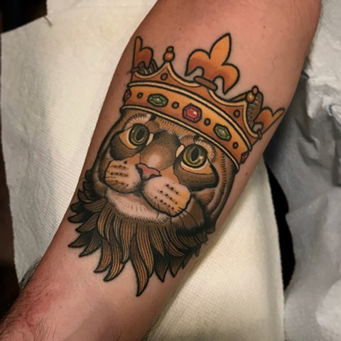 cat tattoo by dave wah at stay humble tattoo company in baltimore maryland the best tattoo shop and artist in baltimore maryland