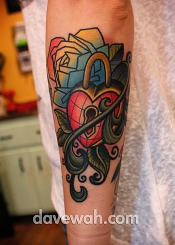 heart locket tattoo by dave wah at stay humble tattoo company in baltimore maryland the best tattoo shop in baltimore maryland