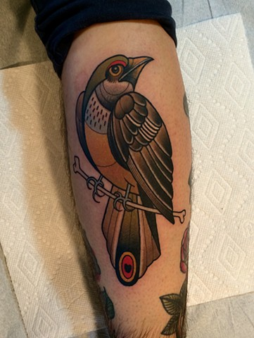 bird tattoo by tattoo artist dave wah at stay humble tattoo company in baltimore maryland the best tattoo shop in baltimore maryland