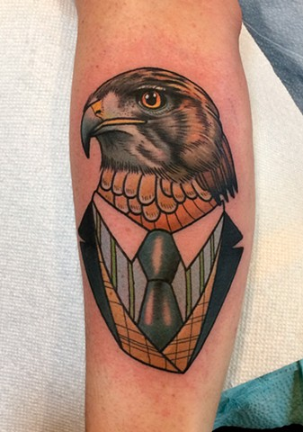 hawk tattoo by dave wah at stay humble tattoo company in baltimore maryland the best tattoo shop in baltimore maryland